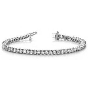 Tennis Bracelet White Women 5.5 Cts Round Diamond